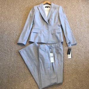 NWT Anne Klein grey checkered blazer & pant suit